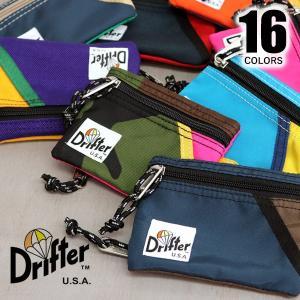 【Drifter/ドリフター】KEY COIN POUCH キー コイン ポーチ 16Color キーケース コインケース カードケース ICカード【ネコポス発送送料無料】|bobsstore
