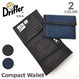 Drifter/ドリフター 財布 3つ折り コンパクト ナイロン WALLET 軽量・丈夫素材 小銭入れ カードケース サイフ ギフト プレゼント メ|bobsstore