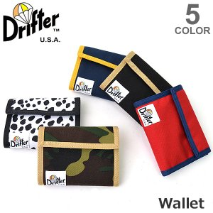 Drifter/ドリフター 財布 3つ折り コンパクト ナイロン WALLET 軽量・丈夫素材 小銭入れ カードケース サイフ ギフト プレゼント【ネコポス発送可】|bobsstore
