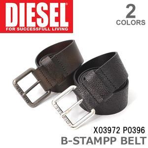 ディーゼル/DIESEL  B-STAMPP X03972 P0396 ベルト メンズ BLACK LIGHT/BROWN ブラック ライトブラウン|bobsstore