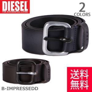 DIESEL/ディーゼル X04719 PR505 B-IMPRESSEDD ベルト 小物 メンズ アクセサリー ヴィンテージ感 BROWN/EBON|bobsstore