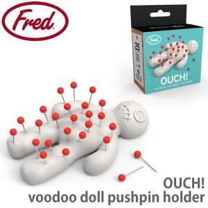 フレッド【fred】 OUCH! pushpins 針山 マチ針付き 5216932 画鋲 裁縫 爪楊枝立て かわいい おもしろ雑貨 キッチン雑貨|bobsstore