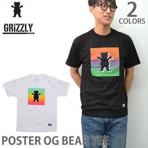 グリズリー/GRIZZLY メンズ Tシャツ POSTER OG BEAR TEE GMB1701P14 ストリート スケーター 半袖Tシャツ