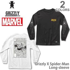 グリズリー GRIZZLY × スパイダーマン メンズ コラボ ロンT SMC1702P06 Grizzly X Spider-Man Long-sleeve 長袖Tシャツ bobsstore