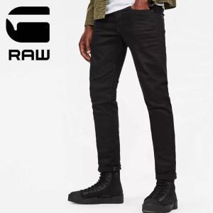 ジースター ロウ【G-STAR RAW】 3301 Slim Jeans 51001.6245.001 メンズ デニム ジーンズ ストレート ブラックデニム Raw Denim|bobsstore