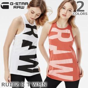 ジースター ロウ/G-STAR RAW RUITZ R T WMN D01028.4107 レディース トップス タンクトップ ロゴ|bobsstore
