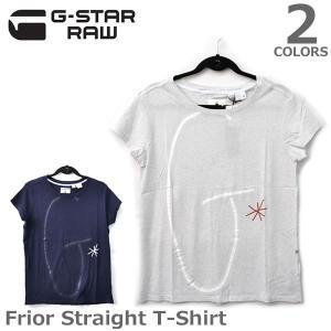 【G-STAR RAW】ジースターロウ レディース  Tシャツ Frior Straight T-Shirt D03443.4107 WHITE HT|bobsstore