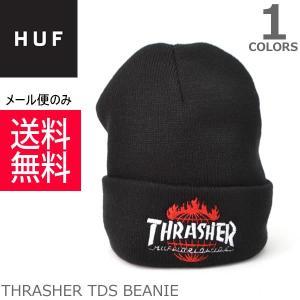 ハフ/HUF BN65M01 THRASHER TDS BEANIE 【メール便送料無料】  ニットキャップ BLACK ストリート CAP スケーター プレゼント ギフト 誕生日 メンズ 帽子 人気|bobsstore