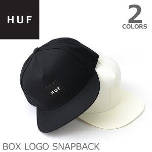 ハフ/HUF HT00004 BOX LOGO SNAPBACK キャップ COOL GREY DARK COBALT OFF WHITE ロゴ ストリート CAP スケーター プレゼント|bobsstore