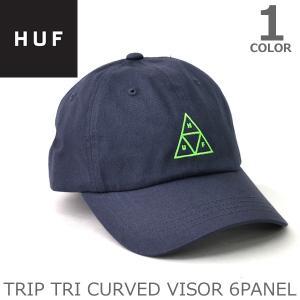 ハフ/HUF HT00073 TRIP TRI CURVED VISOR 6PANELキャップ ロゴ ストリート CAP スケーター プレゼント ギフト 誕生日 メンズ 帽子 人気|bobsstore