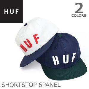 ハフ/HUF HT64019 SHORTSTOP 6PANEL キャップ OFF WHITE/NAVY NAVY/SPRUCE  ロゴ |bobsstore