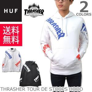 ハフ/HUF PF65M01 THRASHER TOUR DE STOOPS HOOD フリース プルオーバー パーカー フード スケーター プレゼント ギフト 誕生日 メンズ|bobsstore