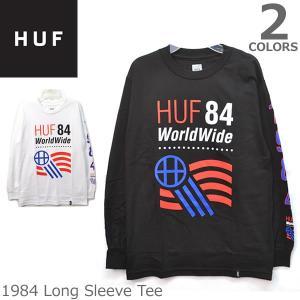 ハフ【HUF】TS62014 1984 Long Sleeve Tee 長袖 ロングTシャツ ロンT BLACK WHITE スケーター プレゼント ギフト 誕生日 メンズ 人気|bobsstore