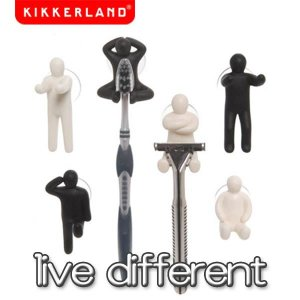 KIKKERLAND(キッカーランド) Live Dirrerent/人型フック/歯ブラシホルダー/髭剃りフック/TB701A|bobsstore