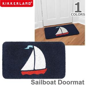 キッカーランド【KIKKERLAND】Sailboat Doormatセイルボートドアマット DM32 ヨット 船 玄関 マット デザイン雑貨 プレゼ|bobsstore