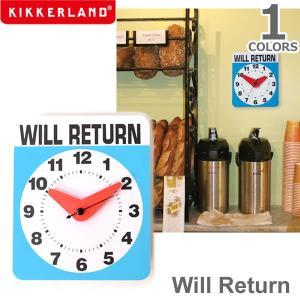 キッカーランド【KIKKERLAND】Will Return ウィルリターン 1781 時計 壁掛け時計 デザイン雑貨 プレゼント ギフト|bobsstore