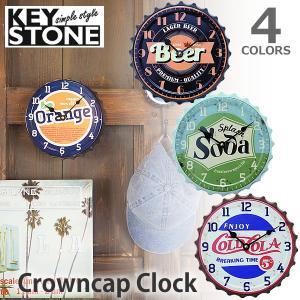 キーストーン KEY STONE クラウンキャップクロック  時計 掛け時計 置き時計 ヴィンテージ レトロ おしゃれ CRCACL 全4種類|bobsstore
