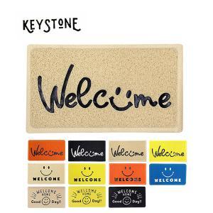 キーストーン【KEY STONE】マット 玄関マット エントランスマット PVEMSM おしゃれ スマイル bobsstore