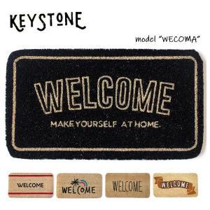 キーストーン【KEY STONE】ウェルカムコイヤーマット 玄関マット WELCOMA MAT ナチュラル カフェ おしゃれ bobsstore