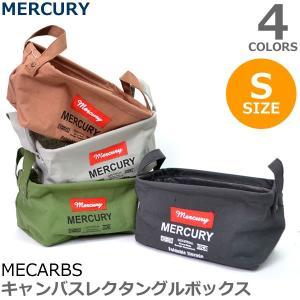 マーキュリー/MERCURY キャンバスレクタングルボックス S MECARBS Canvas Bucket  アメリカン雑貨 洗濯カゴ 収納 おもち|bobsstore