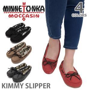 MINNETONKA/ミネトンカ ボア モカシン KIMMY SLIPPER レオパード スリッポン レディース 靴|bobsstore