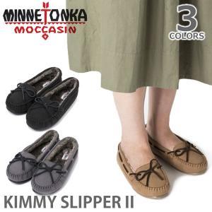 MINNETONKA/ミネトンカ ボア モカシン KIMMY SLIPPER II スリッポン レディース 靴|bobsstore