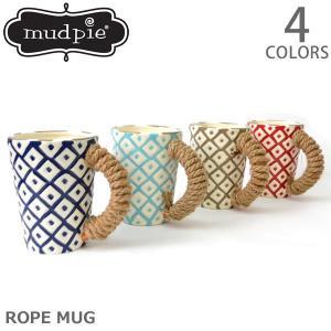 マッドパイ【Mud pie】ROPE HANDLE MUGS マグカップ 4355020 マグ コップ ギフト プレゼント NAVY BLUE TAN|bobsstore