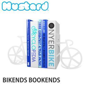 マスタード【Mustard】BIKENDS BOOKENDS 自転車 バイク ブックエンド M16087A 本立て おもしろ雑貨 おしゃれ 雑貨|bobsstore