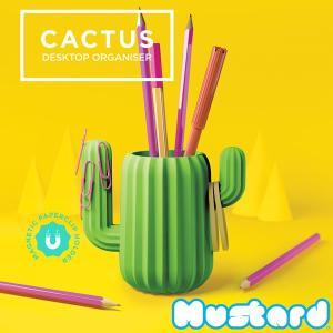 マスタード【Mustard】CACTUS DESKTOP ORGANISER ペン立て サボテン 小物入れ M16088 グリーン おもしろ雑貨|bobsstore