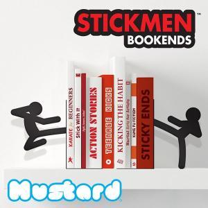 マスタード【Mustard】STICKMEN BOOKENDS スティックマン ブックエンド 本立て|bobsstore