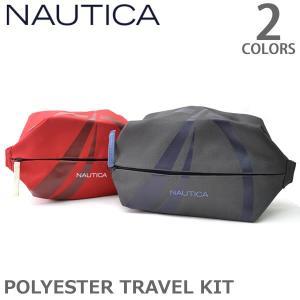 ノーティカ/Nautica NB0015 TRAVEL KIT ポーチ トラベルキット バッグ ノーティカ グレー レッド|bobsstore