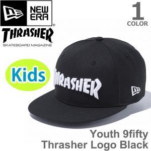 ニューエラ【NEW ERA】11474451 Youth 9FIFTY スラッシャー ロゴ ブラック コラボレーション 帽子 Kid's キャップ 子供 キッズ|bobsstore