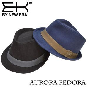 EK by NEWERA AURORA FEDORA オーロラ フェドラ ブラック ネイビー