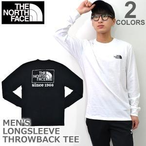 ザ・ノース・フェイス/THE NORTH FACE Men's LONG SLEEVE THROWBACK TEE NF0A3RUB STANDARD FIT ロングTシャツ 長袖 メンズ 人気 ロング Tシャツ bobsstore