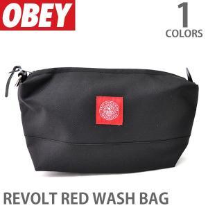 オベイ【OBEY】ポーチ 100010078 REVOLT RED WASH BAG ロゴ バッグ 小物入れ|bobsstore