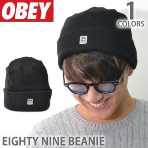 オベイ【OBEY】ビーニー 100030072 EIGHTY NINE BEANIE ロゴ 帽子 メンズ レディース ニットキャップ 【メール便可】|bobsstore