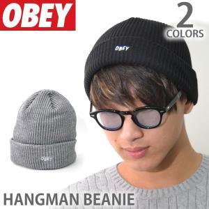 オベイ【OBEY】ビーニー 100030102 HANGMAN BEANIE ロゴ 帽子 メンズ レディース ニットキャップ 【メール便可】|bobsstore