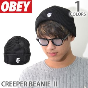 オベイ【OBEY】ビーニー 100030113 CREEPER BEANIE II ロゴ 帽子 メンズ レディース ニットキャップ 【メール便可】|bobsstore