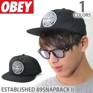 オベイ【OBEY】キャップ 100570051 STABLISHED 89 SNAPBACK II BLACK ロゴ 帽子 メンズ レディース スナップバック ブラック|bobsstore