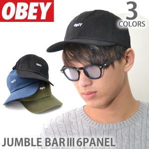 オベイ【OBEY】キャップ 100580071 JUMBLE BAR III 6PANEL ロゴ 帽子 メンズ レディース スナップバック ブラック ネイビー|bobsstore