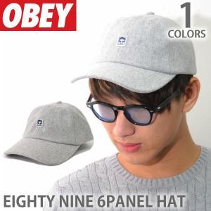 オベイ【OBEY】キャップ 100580081 EIGHTY NINE 6 PANEL HAT HEATHER GREY ロゴ 帽子 メンズ レディース スナップバック|bobsstore