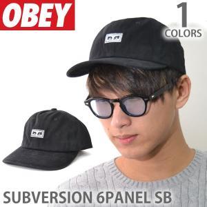オベイ【OBEY】キャップ 100580086 SUBVERSION SUBVERSION 6PANEL SB ロゴ 帽子 メンズ レディース スナップバック ブラック|bobsstore