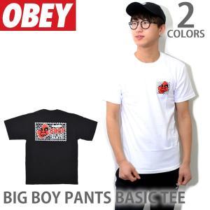 オベイ【OBEY】BIG BOY PANTS BASIC TEE 163081595 Tシャツ 半袖 メンズ WHITE BLACK【あす楽】|bobsstore