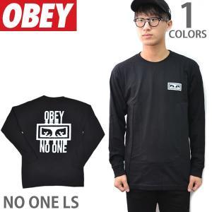 オベイ【OBEY】NO ONE LS 164901559 ロングTシャツ ロンT メンズ BLACK bobsstore