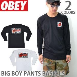 オベイ【OBEY】ロングTシャツ ロンT BIG BOY PANTS BASIC LS 164901595 メンズ WHITE BLACK bobsstore