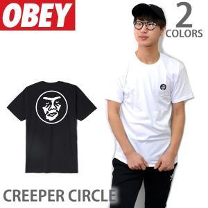 オベイ【OBEY】CREEPER CIRCLE 165361636 Tシャツ 半袖 メンズ BLACK|bobsstore