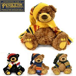 ギフトにぴったりペンドルトンテディーベア出産祝いにもおすすめ/GUND ガンド社 コラボ bear /chauncey/トラッド/PENDLETON|bobsstore