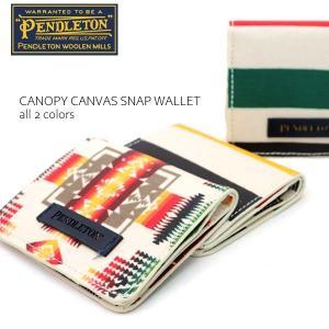 ペンドルトン【PENDLETON】GE254 CANOPY CANVAS SNAP WALLET ネイティブ柄 2つ折り 財布 定期入れ ID カードケース【ネコポス発送のみ送料無料】 bobsstore