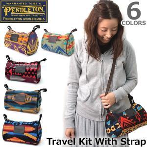 ペンドルトン PENDLETON GF418 ネイティブ柄 斜めがけ バック Travel Kit With Strap ドップバッグ ウール ポシェ|bobsstore