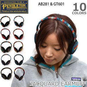PENDLETONペンドルトンJACQUARD EARMUFF ジャーガード イヤマフ / ネイティブ柄 男女兼用 耳あて/GT601/AB|bobsstore